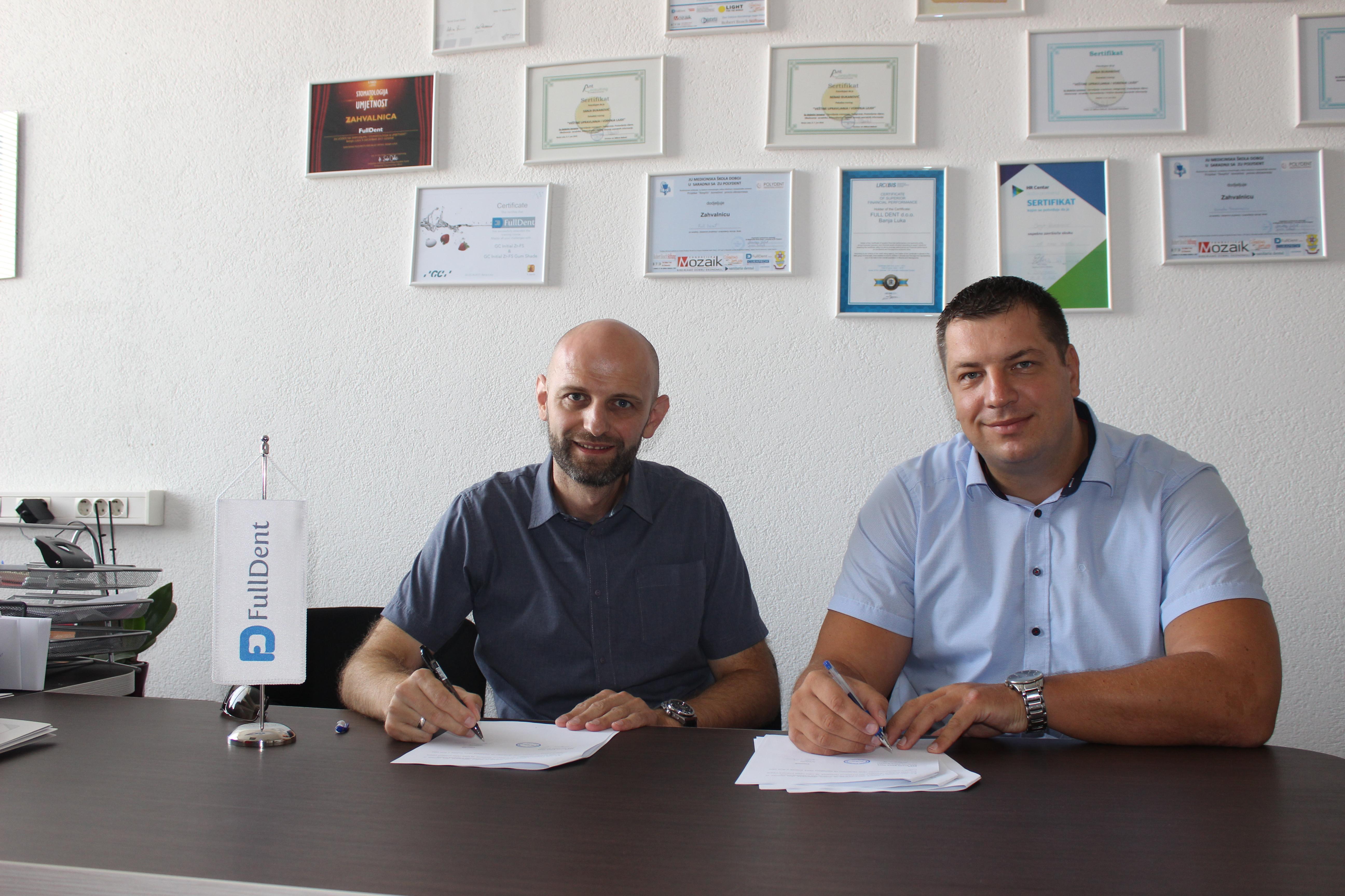 Full Dent sponzor i podrška ekipi OKK Borac