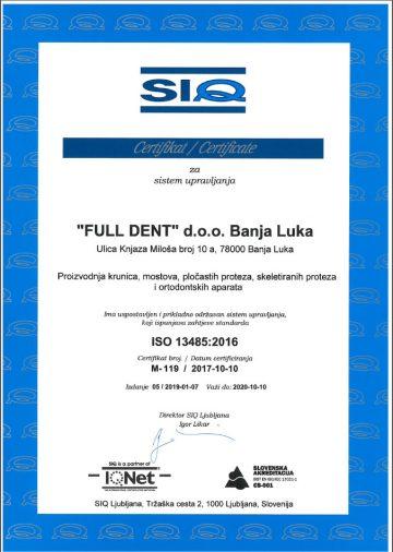 full dent sertifikat